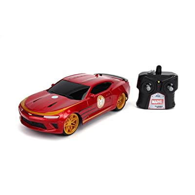 Jada Toys Marvel Avengers Iron Man 2016 Chevy Camaro R/C, 1: 16 Scale with USB Charging, 2.4Ghz & Turbo Boost, Red: Toys & Games