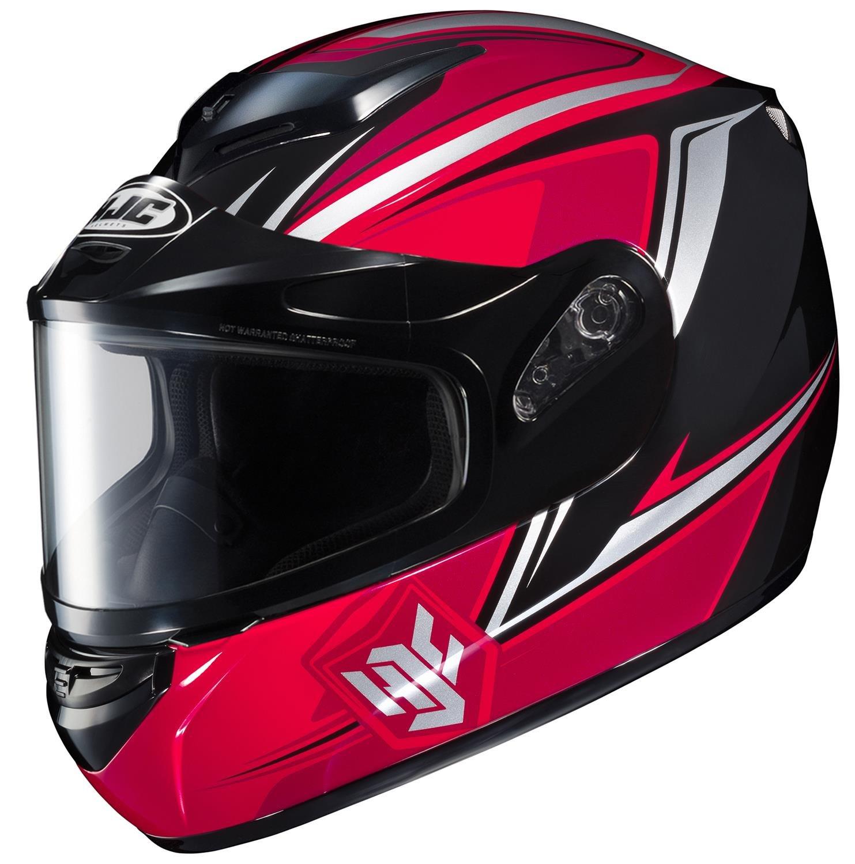 HJC CS-R2SN Seca Full Face Snow Helmet Framed Dual Lens Shield (MC-1 Red, XX-Large)
