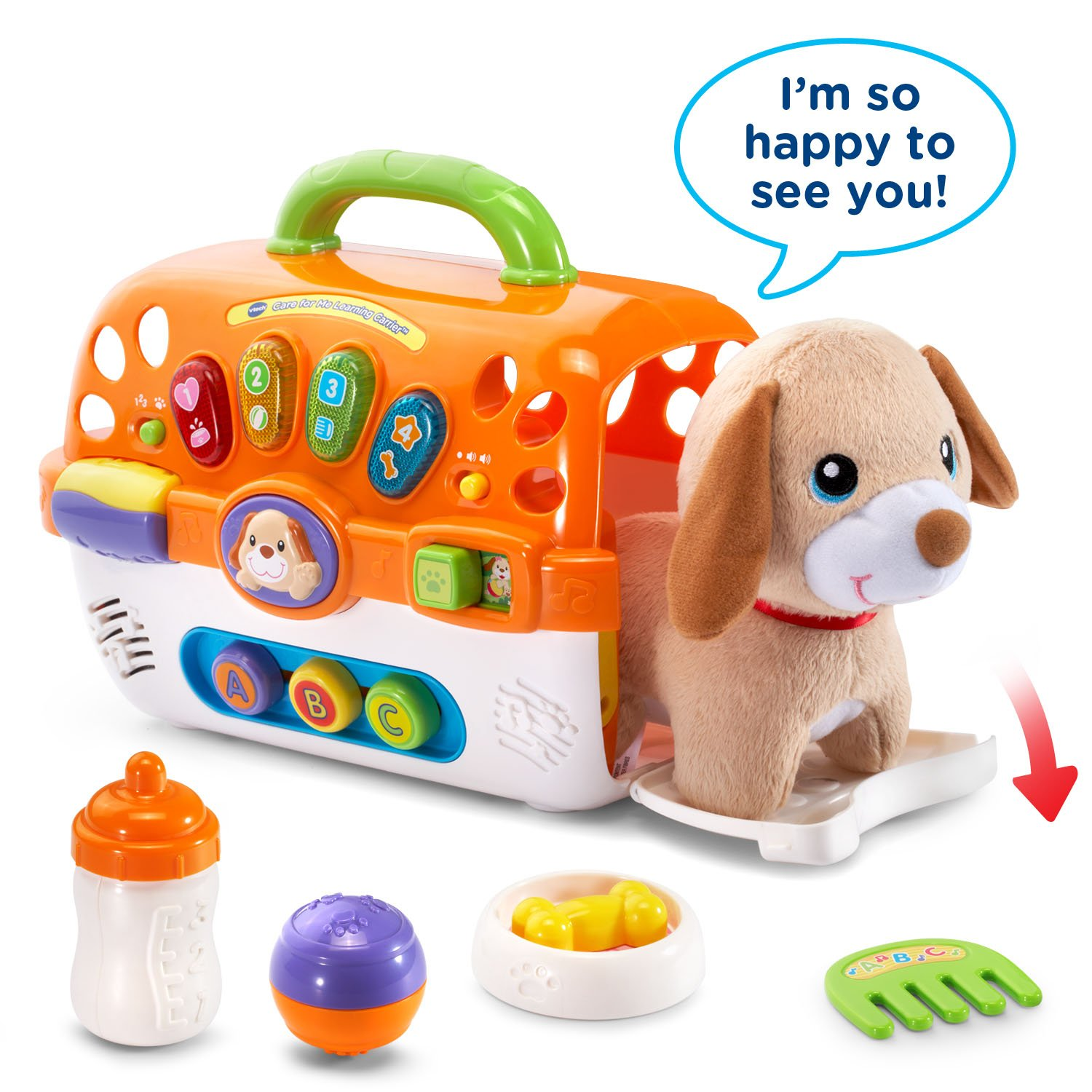 VTech Care for Me Learning Carrier Toy, Orange by VTech (Image #1)