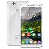 "Oukitel U11 Plus Unlocked 4G Smartphone, 5.7"" FHD Screen Android 7.0 MTK6750T Octa-Core4GB RAM + 64GB ROM Dual SIM Card Mobile Phone with Dual Camera (13.0MP+13.0MP) 3700mAh Big Battery Fingerprint Notification LED OTG Wifi Bluetooth SIM-Free Phablet - White"