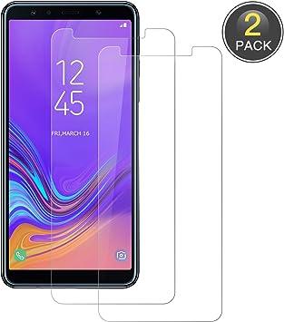 POOPHUNS Cristal Templado Samsung Galaxy A7 2018, [2 Pack ...
