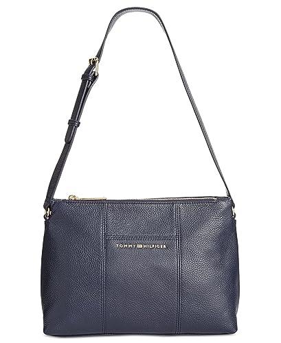 5e58ceb123247 Amazon.com  Tommy Hilfiger Women s Pauletta Convertible Pebble Leather Hobo  Tommy Navy Handbag  Shoes