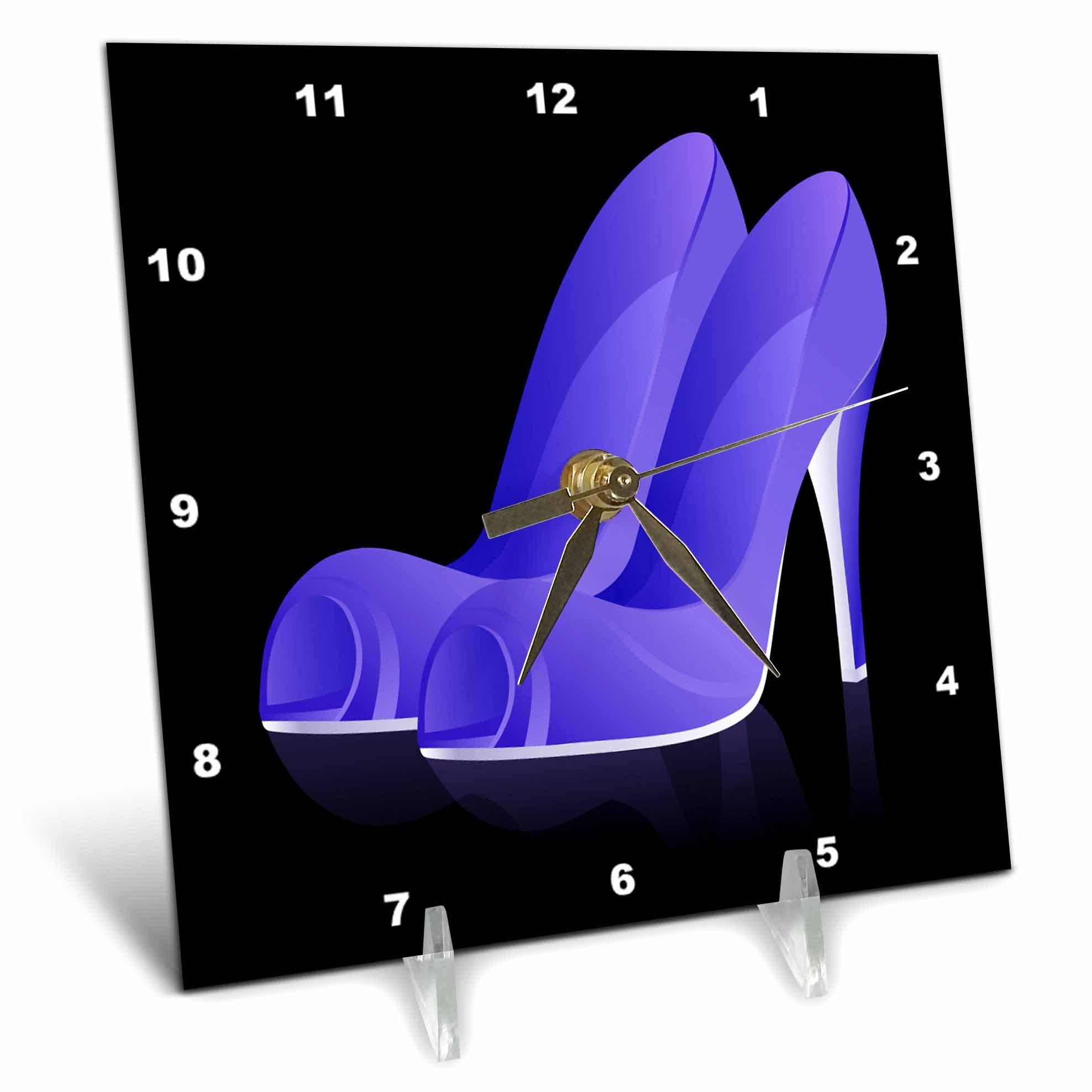 3dRose dc_111564_1 Ladies High Heel Blue Shoes