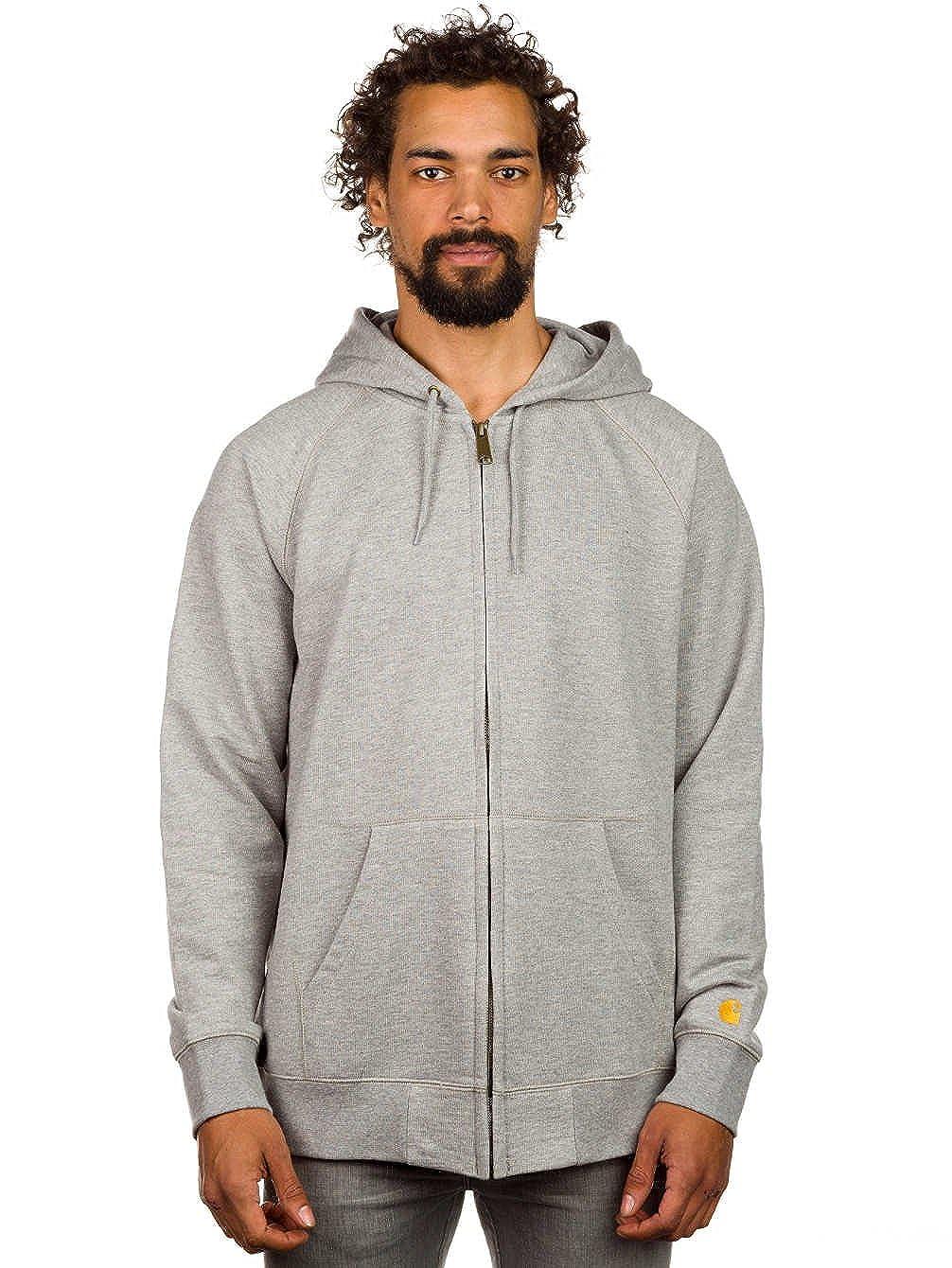 Carhartt Sudaderas - Carhartt Hooded Chase Jacket... gris extra-small: Amazon.es: Ropa y accesorios