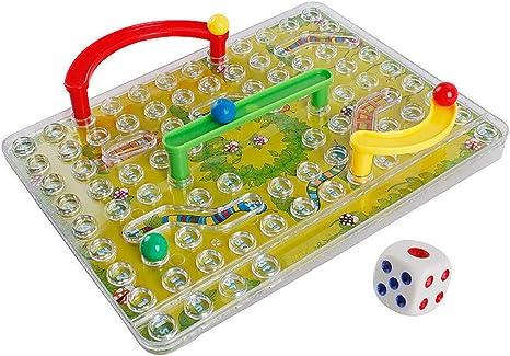 Liquidación! DDLmax juguetes educativos, tradicional 3D serpientes escaleras familia juego de mesa juguete para niños regalos noche diversión: Amazon.es: Juguetes y juegos