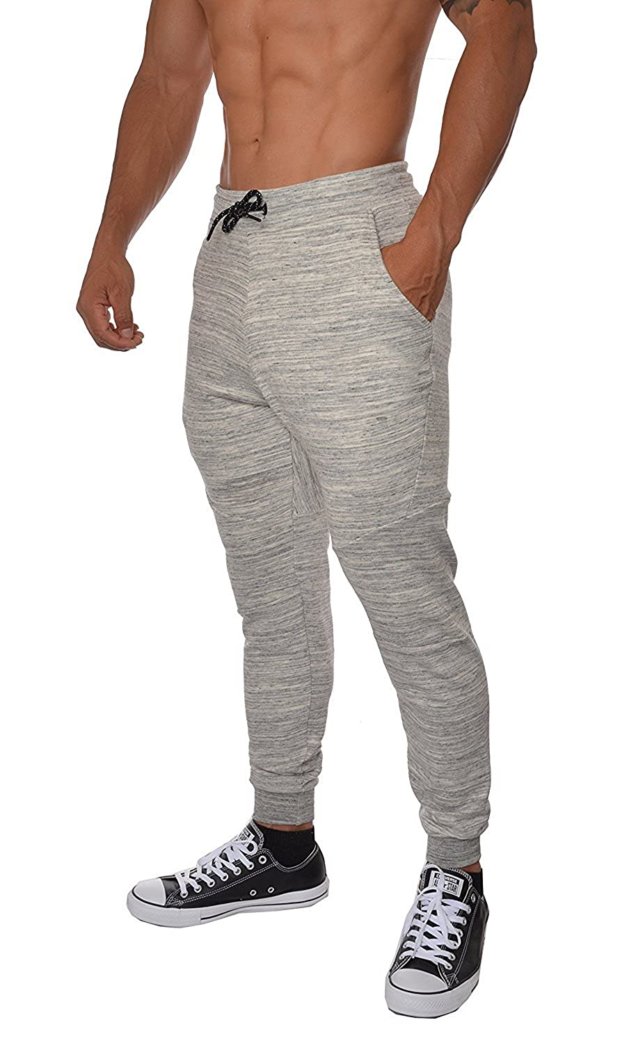 Taylor Heart Slim;Handsome French Terry Cotton Sweatpants Jogger Pants