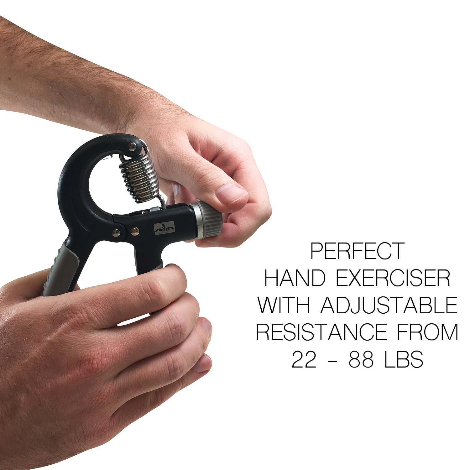 Ergonomic Design FITS All Hand Sizes Comfortably.Great for Rehabilitation Purposes Cabana Sports Black and Grey Adjustable Hand Grip