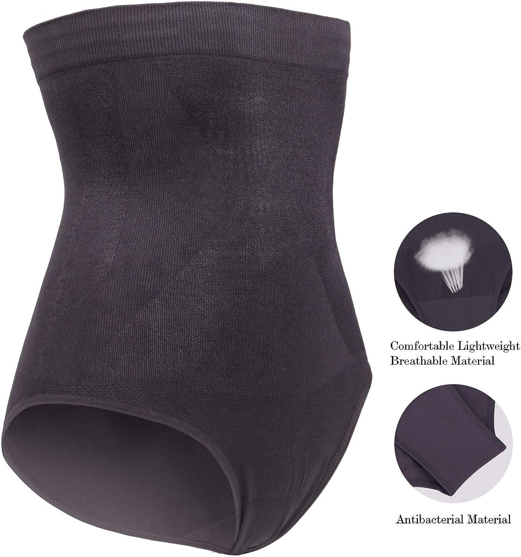DREAM SLIM Womens High-Waist Seamless Body Shaper Briefs Firm Control Tummy Slimming Shapewear Panties Girdle Underwear