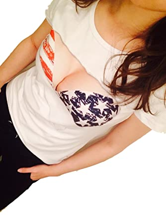 f2b60c889d8e0 ジョークTシャツ 丸見え!  巨乳 おっぱい 胸とブラが見えてる?メンズ