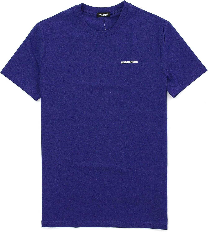 DSQUARED2 - Camiseta de manga corta, color morado: Amazon.es: Ropa y accesorios