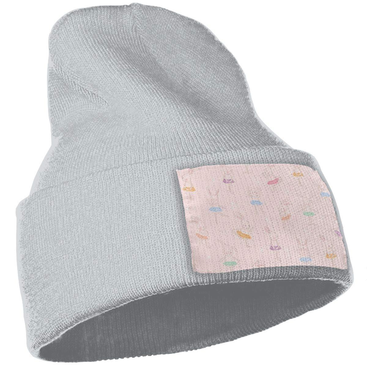 Rabbit Ballet Warm Knit Winter Solid Beanie Hat Unisex Skull Cap