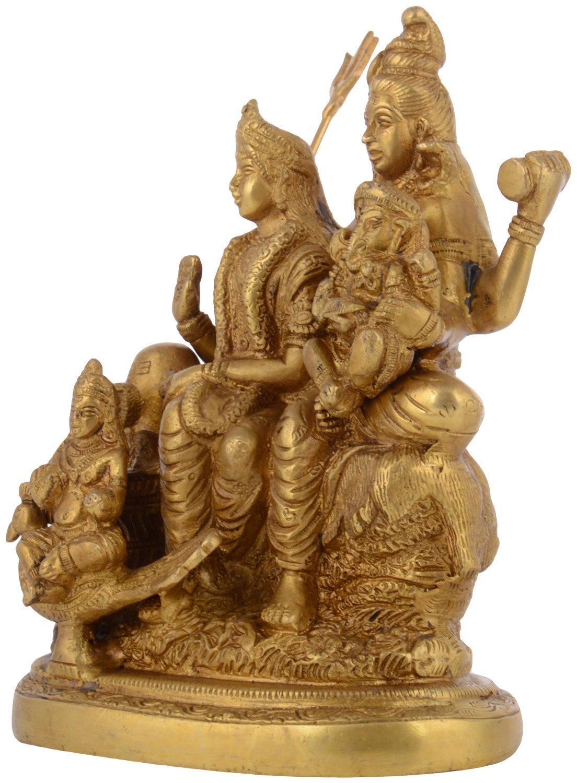 Kapasi Handicrafts Brass Lord Shiv Parivar Idol Big Statues (5.75'' x 3.75'' x 7.5'' Inch) by Kapasi Handicrafts Emporium Since 1973 (Image #2)