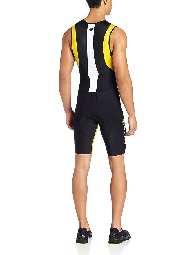 SKINS TRI400 Mono sin mangas de triatlón Hombre negro/amarillo S ...