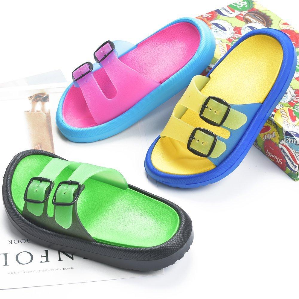 Cyiecw Toddler Little Kid Walking Sandals Non-Slip Beach Shoes Lightweight Shower Pool Slippers