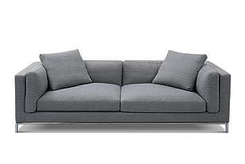Canapé Design Contemporain Svellson Vaasa Tissu Gris Amazonfr - Canapé tissu contemporain