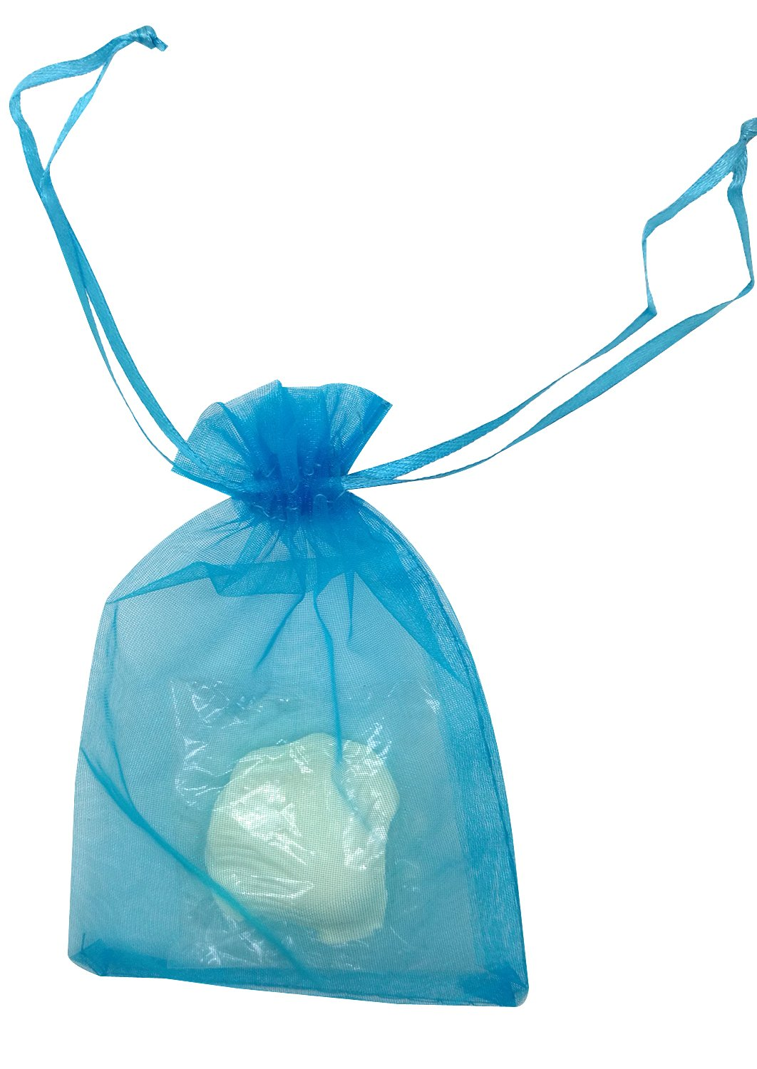 SUNGULF 100pcs Organza Pouch Bag Drawstring 4x6'' 10x15cm Strong Gift Candy Bag Jewelry Party Wedding Favor (Turquoise)