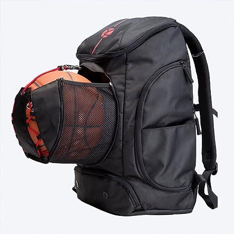 Kuangmi Mochila con Bolsa para balón de fútbol o Baloncesto, Ropa ...