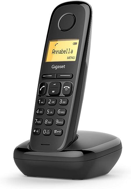 Gigaset A170 Duo Analog/DECT Telephone Negro Identificador de Llamadas: Amazon.es: Electrónica