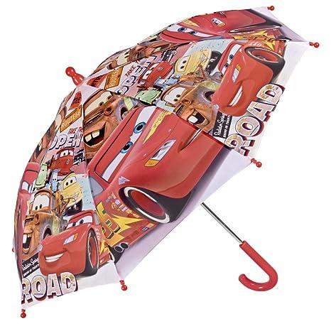 Paraguas Disney Pixar Cars de Niño con estampado Rayo Mcqueen y otros personajes - Paraguas resistente