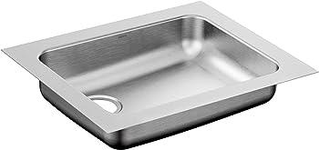 Moen G18195L 1800 Series Steel 18-Gauge Single Bowl