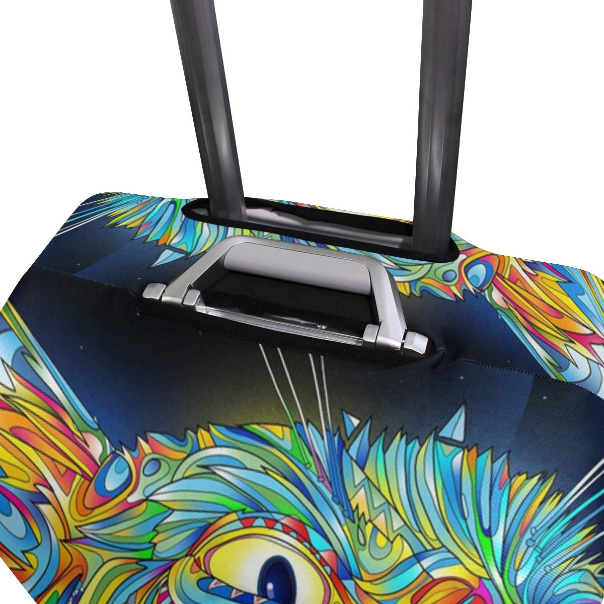 Vector Abstract Colorful Cat suitcase cover elastic suitcase cover zipper luggage case removable cleaning suitable for 29-32 trunk cover