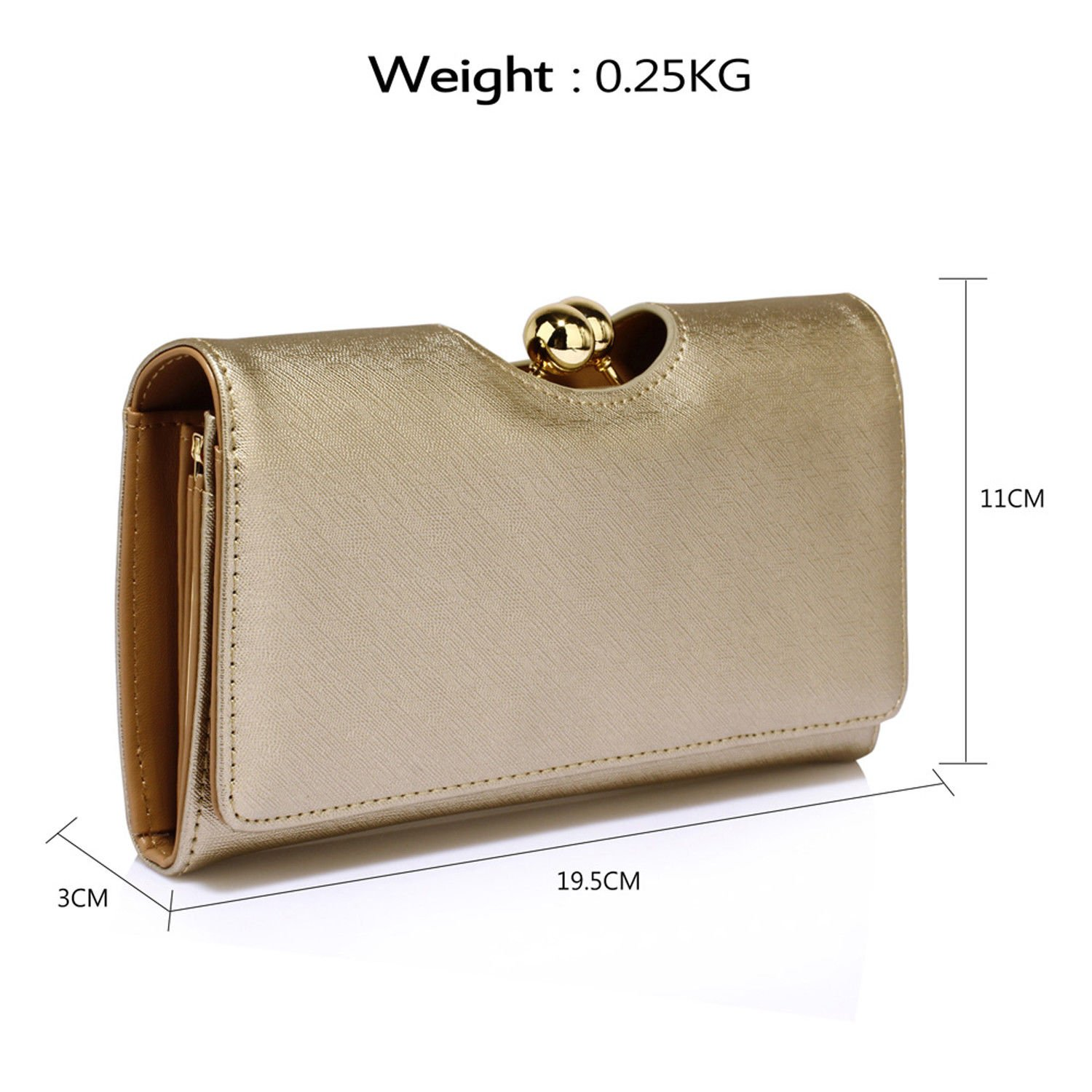 New Trifold Ladies Wallet Faux Leather Women Girl Purse Bobble Clasp Bags UK
