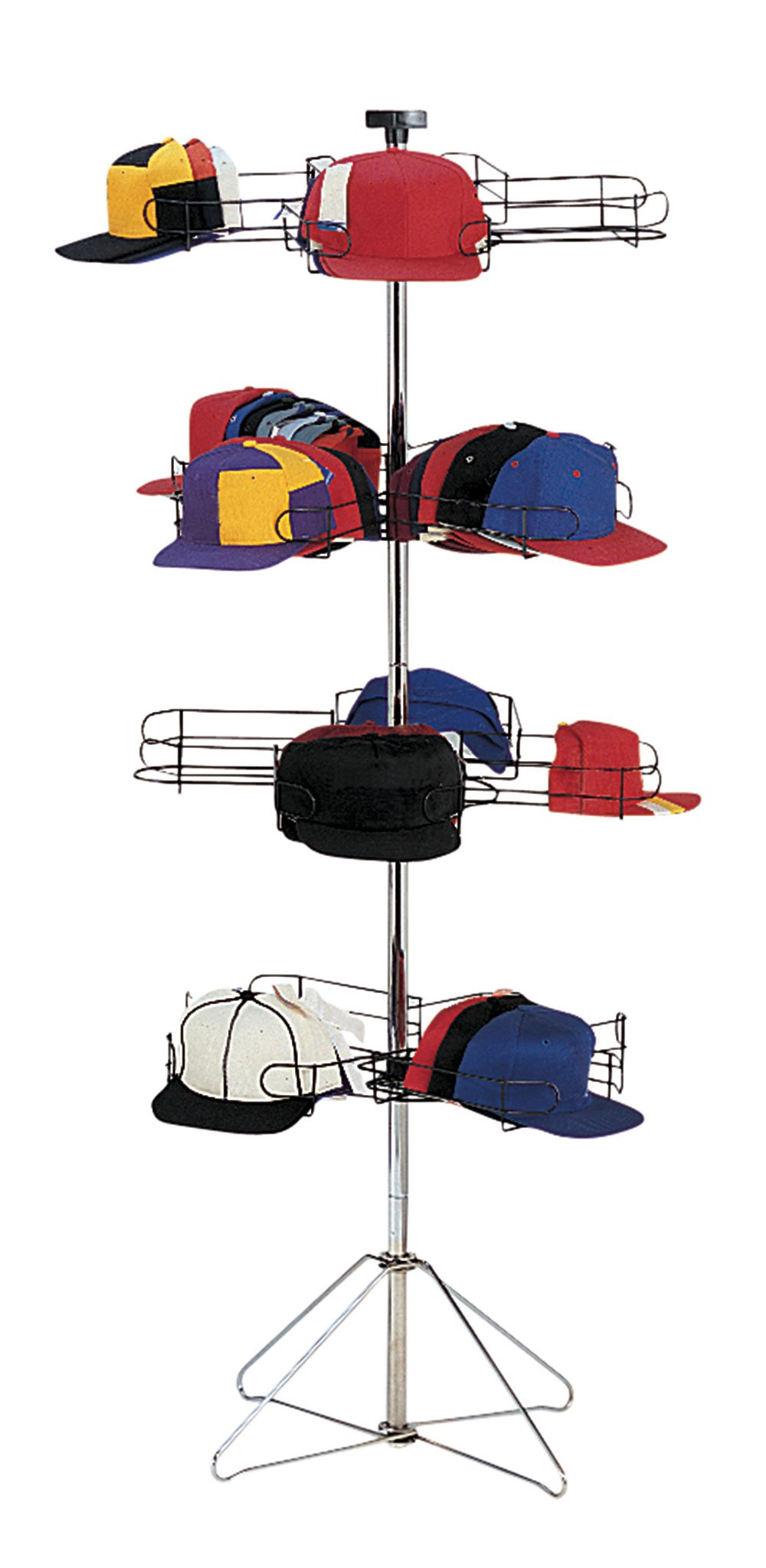 SSWBasics 4-Tier Rotating Standing Hat and Cap Rack Display