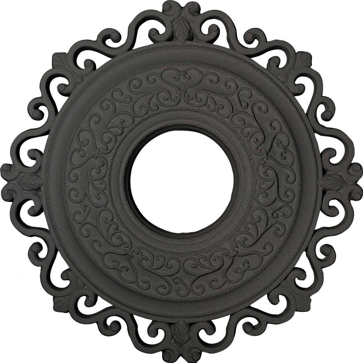Ekena Millwork CM22ORSGS Orrington Ceiling Medallion, 22'' OD x 6 1/4'' ID x 1 3/4'' P, Steel Gray