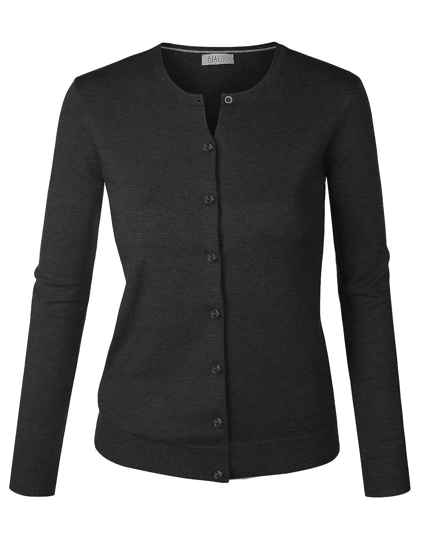 B.I.L.Y BILY Women's V-Neck Button Down Long Sleeve Soft Classic ...