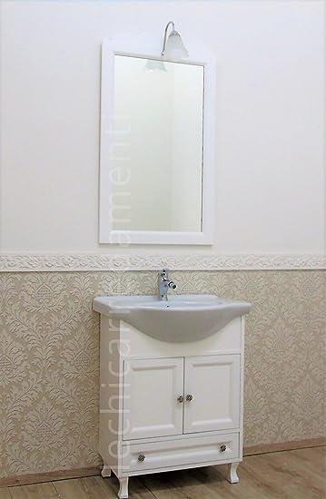 Badmöbelset 65 cm weiß Shabby Chic Modern Badezimmer Holz: Amazon.de ...