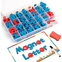 Coogam Magnetic Letters 208 Pcs with Magnetic Board and Storage Box - Uppercase Lowercase Foam Alphabet ABC Magnets for…