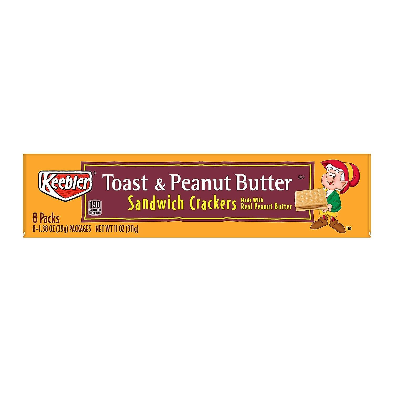 Keebler petardos de Sandwich, mantequilla de cacahuete, 8-cracker ...