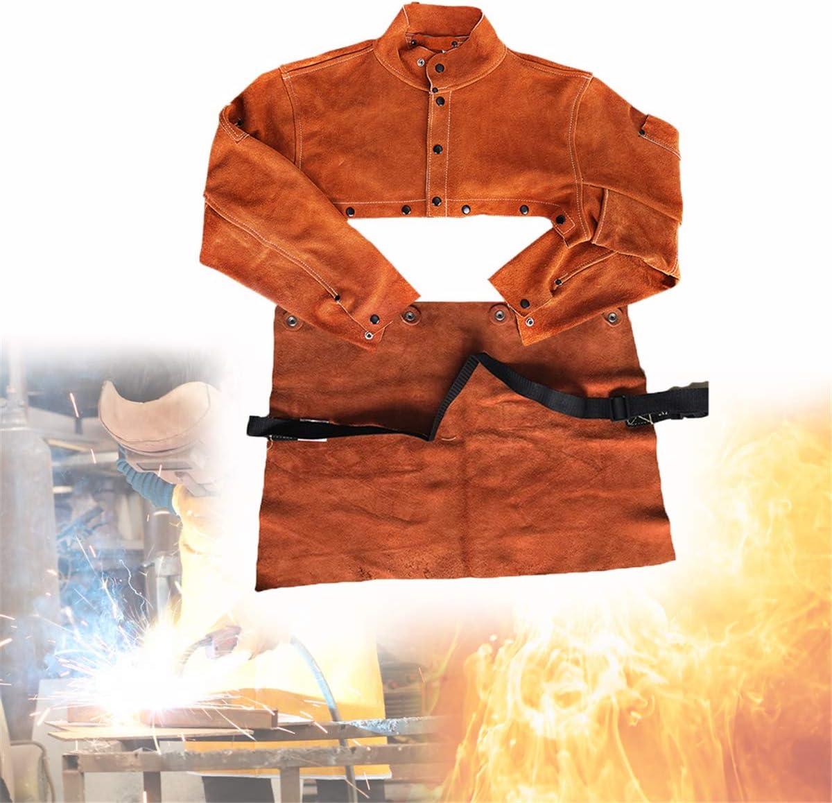 Schwei/ßEn-Bekleidung Jacke Und Arbeitskleidung Schwei/ßEr Werkstatt Haltbares Einsatz In Industrie Dekoration Unisex,M TBDLG Jacke
