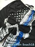 UNIQUE Pants American Thin Blue Line Flag Sugar