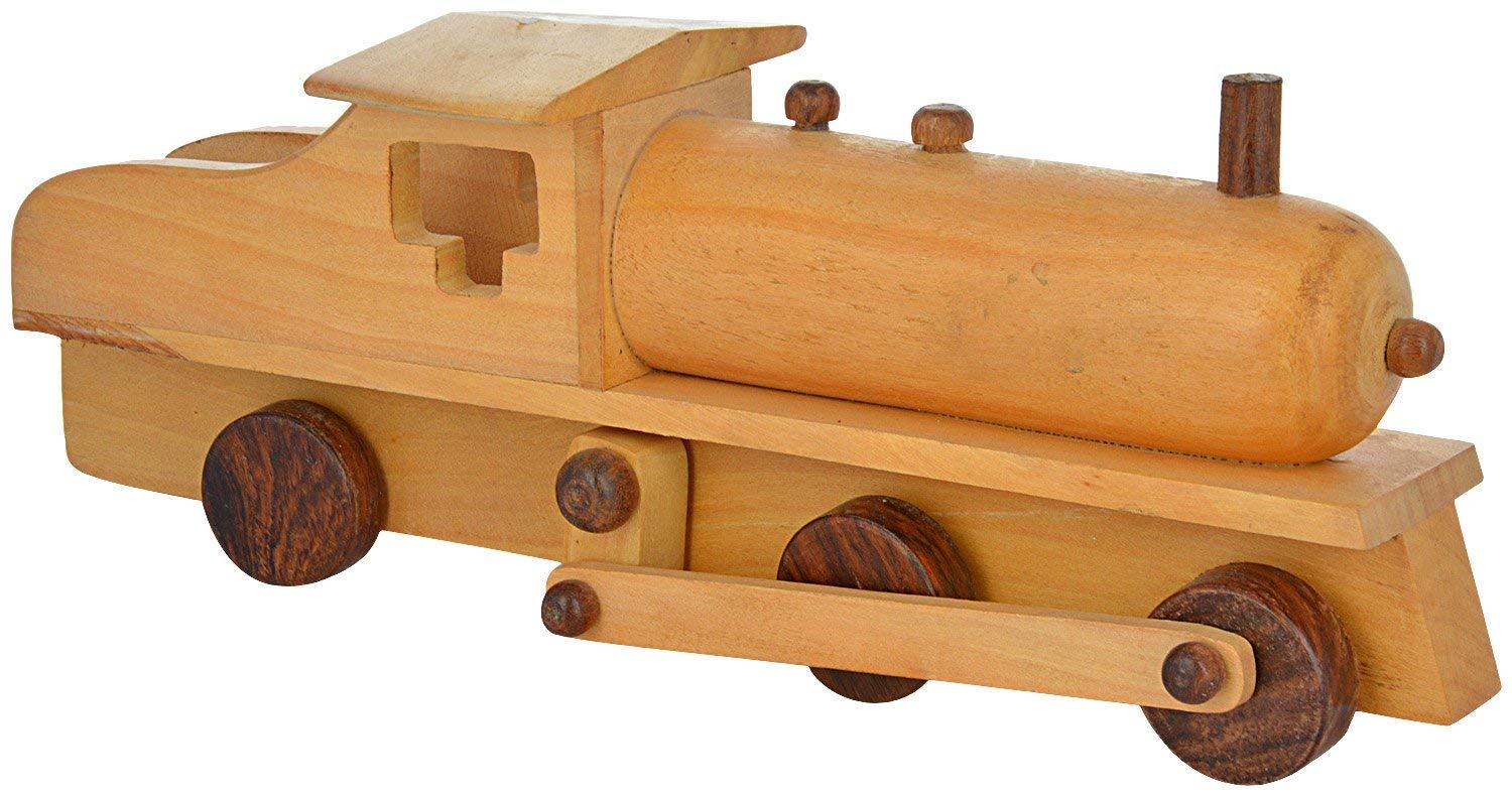 Wood Train Engine Toy for Kids