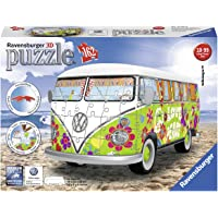 Ravensburger 12532 VW Camper Van Woodstock 50th Anniversary, 162pc 3D Jigsaw Puzzle,