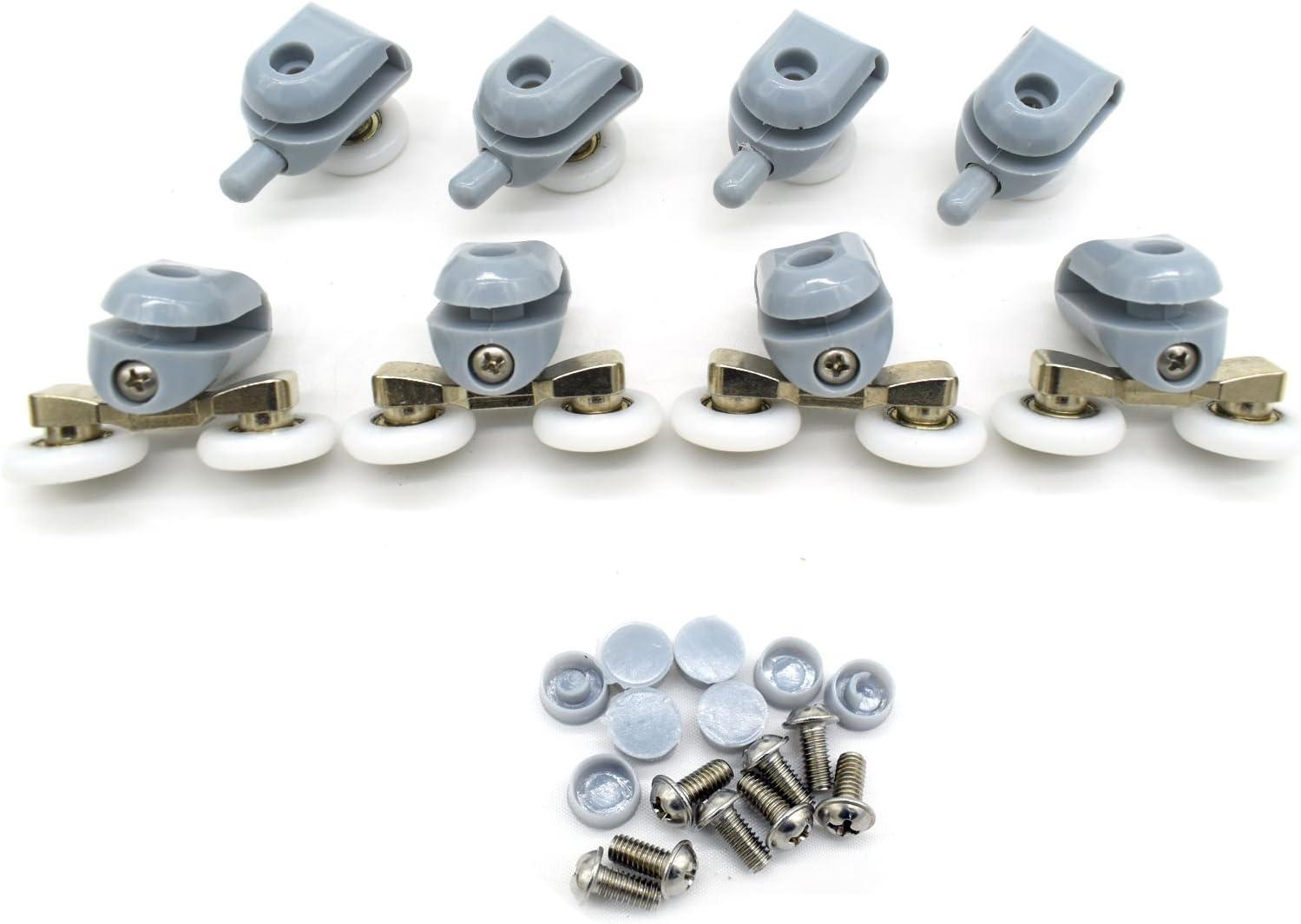 Rodamientos dobles para mamparas de ducha, 22 mm de diámetro ...