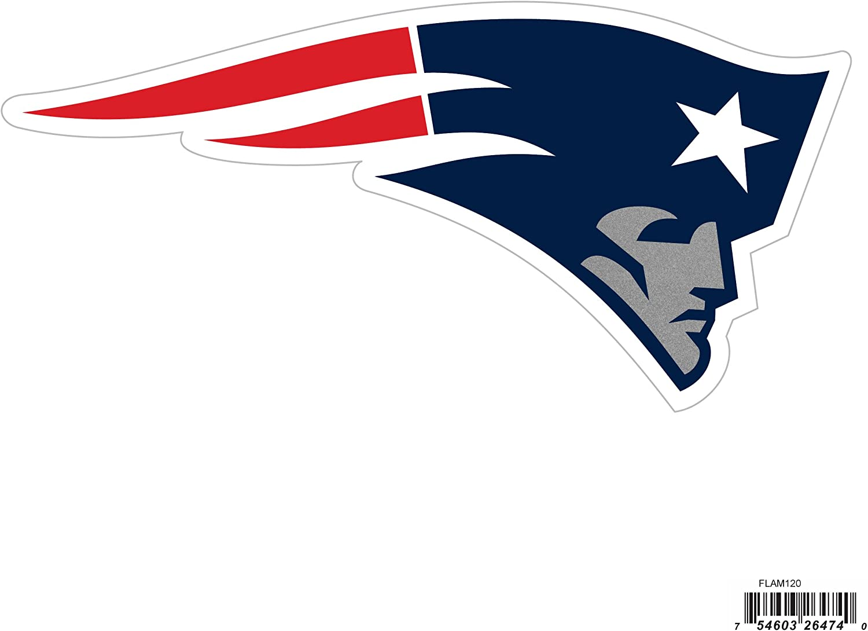 NFL Siskiyou Sports Fan Shop New England Patriots Logo Magnets 8 inch sheet Team Color