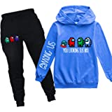 Youth Pullover Hoodie Among Us Sweatpants Suit Hooded Tracksuit Sweatshirt Set for Boys Girls