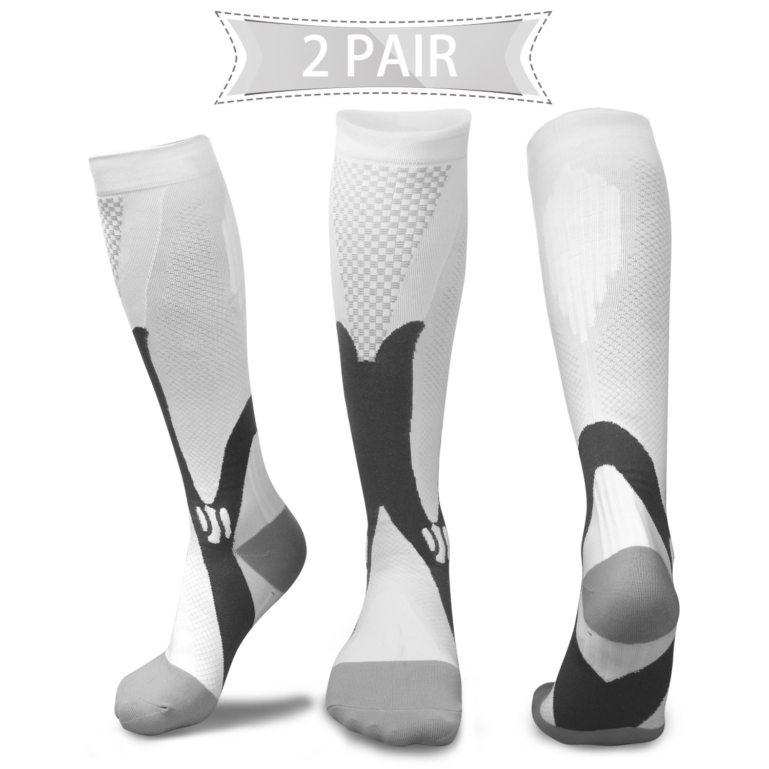 0652d810f0 Compression Socks for Men & Women(2 Pairs), BEST Medical Grade Graduated  Recovery