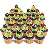 Angry Birds Cupcake Rings - 24 ct