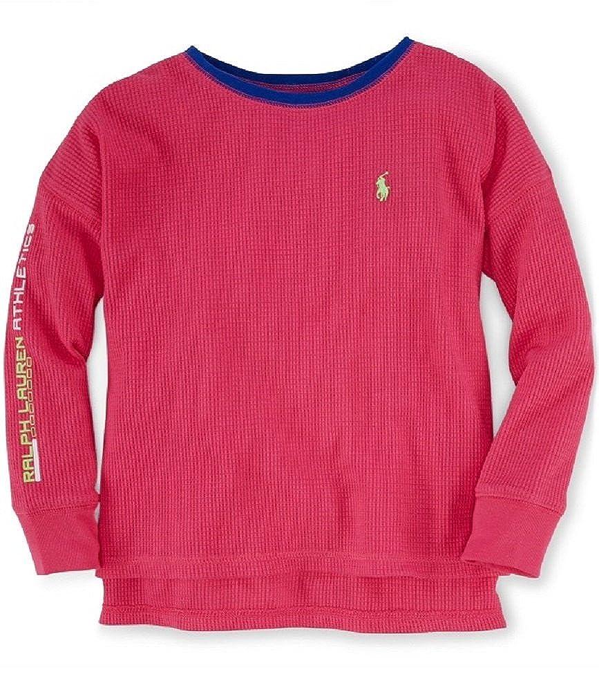 656090a96 Amazon.com  Ralph Lauren Little Girls Long Sleeve Shirt - Pink - Varios  Sizes (5)  Clothing