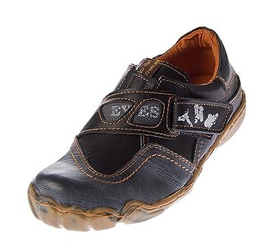 TMA Damen Echt Leder Comfort Schuhe 1901 Halbschuhe Slipper Weiß/N Turnschuhe Sneakers Used Look Gr. 36 umjrSl