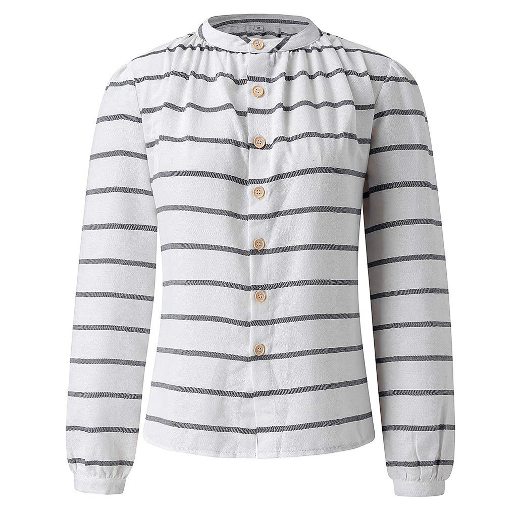 Fashion Autumn Women O-Neck Long Sleeve Split Striped Sweatshirt T-Shirt Blouse Tronet Casual Summer Tops for Women 2019