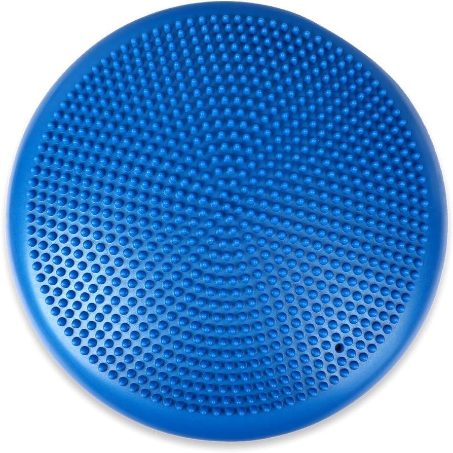 Farbe:blau Schramm/® Ballsitzkissen inkl Pumpe Balancekissen 10 Farben Gleichgewichtskissen Noppenkissen Sitzball Kissen Luftkissen Fitness Kissen Skill Game Fitnesskissen