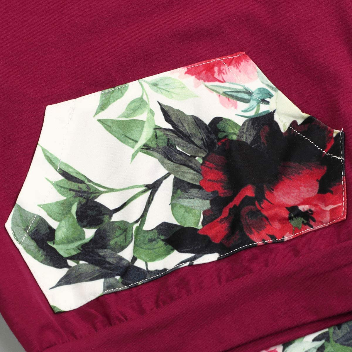 Hosen Outfit Set 2PC Baby M/ädchen Floral Bedruckte Kleidung Set Infant Hoodies Pocket Top