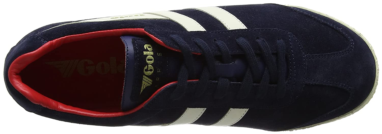 Gola Men's Harrier Fashion Sneaker B071LHQ8Z1 8 D(M) US|Navy/Off-white/Red