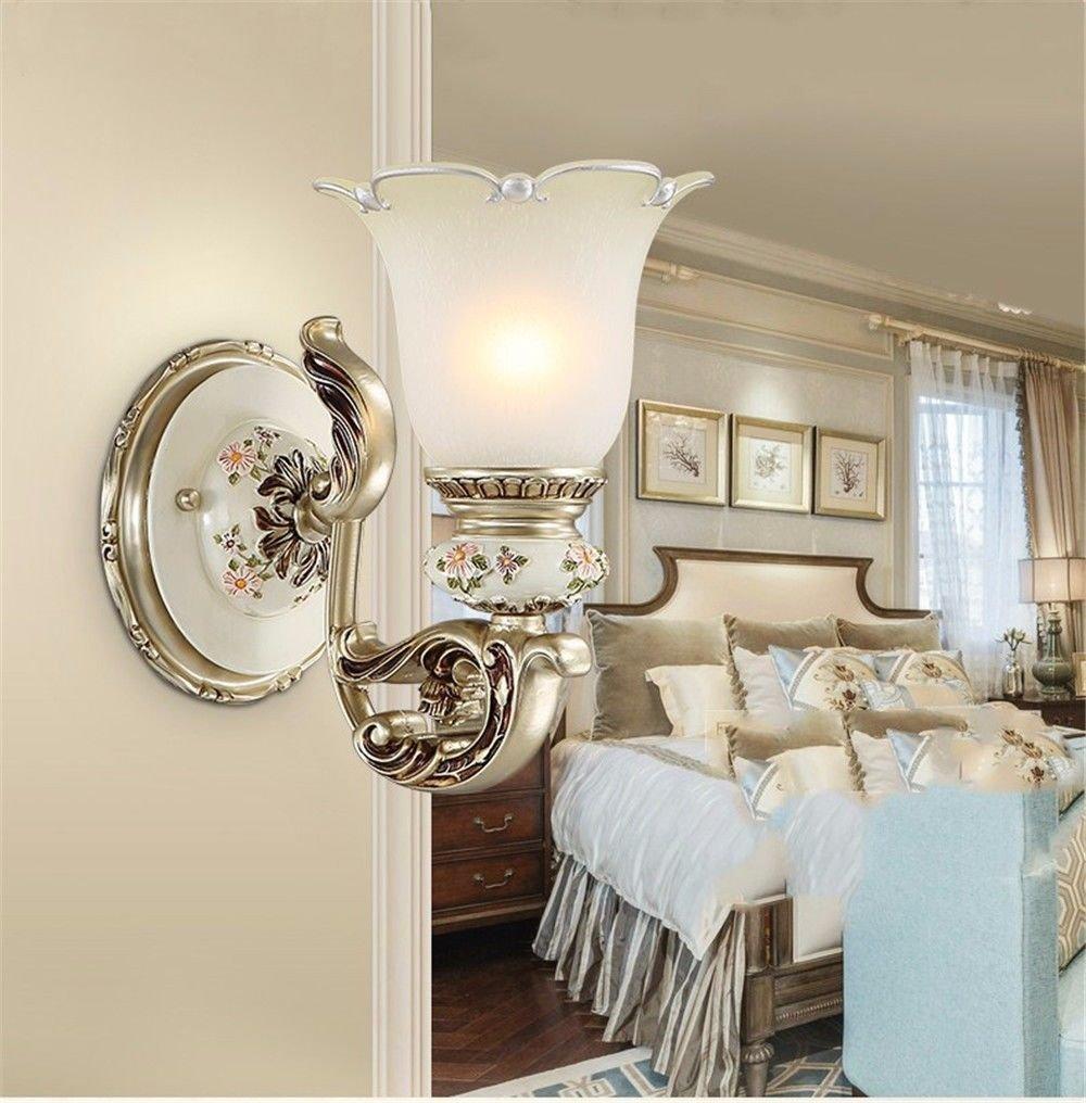 Firsthgus E27 Wandleuchte Schlafzimmer Nachttischlampe Single Head Wandleuchte Wohnzimmer TV Wand