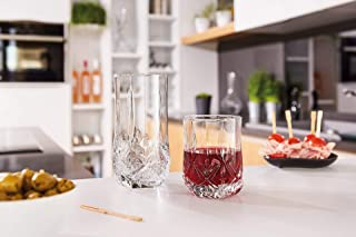 product image for Luminarc 16-Piece Brighton Assorted Glass Tumbler Set, Clear