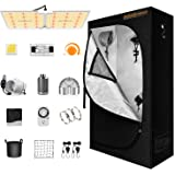 Spider Farmer Grow Tent Kit Complete, SF-2000 LED Grow Light Compatible with Samsung LM301B Diodes & MeanWell Driver, 2x4 Gro